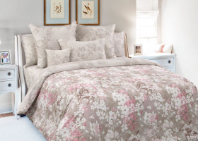 Комплект постельного белья евро сатин Любование 3