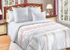 Комплект постельного белья семейный сатин Баланс