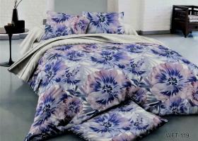 Комплект постельного белья семейный сатин Цветочная акварель