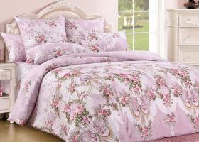 Комплект постельного белья евро сатин Парфюм