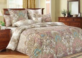 Комплект постельного белья евро сатин Великолепие 1