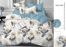 Комплект постельного белья евро сатин 3438