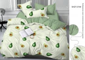 Комплект постельного белья евро сатин 3748