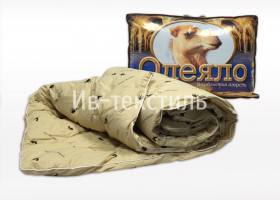 Одеяло всесезонное 1,5сп Верблюжье тик